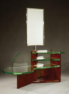 Table in walnut made by de coene belgium art deco furniture pinterest - Table de nuit art deco ...