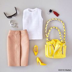 Sunny staples make for a stylish summer day! #barbie #barbiestyle