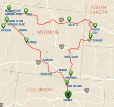 Yellowstone Road Trip Itinerary: The Black Hills Route - Visit USA Parks - Travel tips - Travel tour - travel ideas Road Trip To Colorado, Road Trip Usa, Road Trip National Parks, Yellowstone Vacation, Yellowstone National Park, Wyoming Vacation, Visit Yellowstone, Old West Town, Viajes