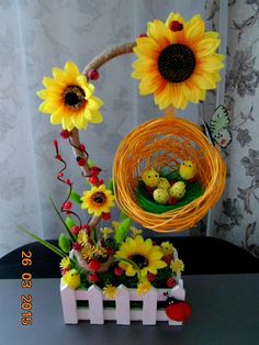 Новости Easter Projects, Easter Crafts, Projects To Try, Flower Crafts, Diy Flowers, Summer Crafts, Diy And Crafts, Easter Flower Arrangements, Floral Bouquets