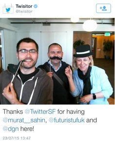 Hadi bakalım, bir daha görüşünceye kadar hoşçakalt @TwitterSF @Twisitor @murat__sahin #Futurist #WFS2015 #TwitterSF #HQ