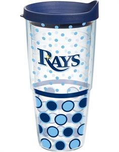 MLB®   Tampa Bay Rays   Polka Dot Wrap with Lid   Tumblers, Mugs, Cups   Tervis