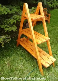 How to build an a-frame plant stand   HowToSpecialist - How to Build, Step by Step DIY Plans