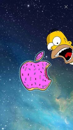 Imagem de wallpaper, apple, and homer                                                                                                                                                                                 Mais