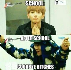 """I have Never Seen Anyone Do That Walking Out From School Lol"" - Haha I Know, Baekhyun The Trendsetter"