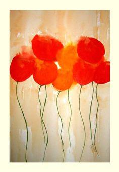 Aquarellbild Blumen: Sommerblumen      Format: mit Passepartouts 50 x 40 cm ohne Rahmen     Das traumhafte Aquarellbild- Sommerblumen ist auf Aquarell
