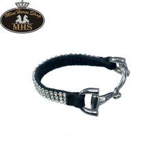 Hübsche #Armband mit drei Reihen Steine und ein silberfarbige #Trenseschließung. Bestellen Sie jetzt im #MiniHorseShop; der größte Webshop für Mini-Pferde und Shetländer!