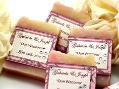 10+Vegan+Soap+Favors++Dusty+Rose++White+Roses+by+JoyFilledWeddings,+$20.00