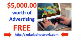 Jeremy Rush, the owner of ZukulAdNetwork is giving FREE advertising to NONE MLM or money making site.  Go to his FB: http://bit.ly/2e8vSmb then make a comment in the Post, to get your hands on your FREE advertising, do you have a offline business that could do with some FREE advertsing, FREE advertising for  HOTEL, RESTAURANTS, CONSTRUCTION COMPANIES, YOGA TEACHERS, ETC Join FREE today http://zukuladnetwork.com/ LIKE - COMMENT - SHARE
