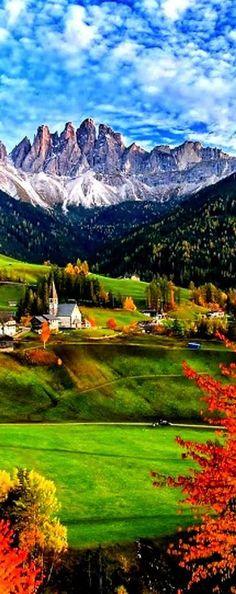 Church of Santa Maddalena, Trentino Alto, Italy