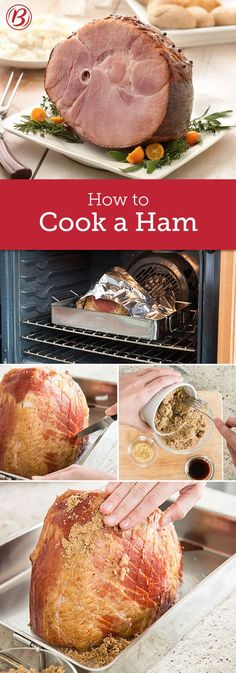 Whether you're cooking a spiral-cut ham or just pan-frying a weeknight ham steak, follow these steps for ham that's cooked to perfection. Ham Recipes, Easter Recipes, Thanksgiving Recipes, Holiday Recipes, Cooking Recipes, Cooking Tips, Cooking A Ham, Cooking Games, Cooking Classes