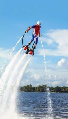 All new Flyboard at Tommy Bartlett Ski Show in Wisconsin Dells is sure to be an amazing sight! Check it out as performers fly high above the water only to dive down deep and back up again in an amazing display. Unique Vacations, Wisconsin Dells, Concert Hall, Buy Tickets, Wonderful Places, Places Ive Been, Skiing, Water Ski, Around The Worlds
