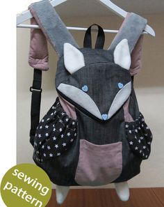 Fox Backpack - Instant download sewing pattern                                                                                                                                                                                 More