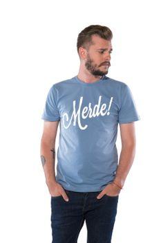 camiseta Merde blue