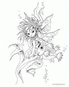 Enchanted Designs Fairy U0026 Mermaid Blog: Free Fairy U0026 Mermaid Coloring Pages  By Jody Bergsma