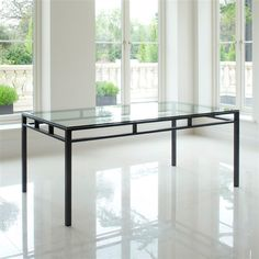 Dining table Manhattan @ Tom Faulkner - they could do this in bronze finish