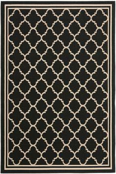 Safavieh Courtyard II CY-6918 Black / Beige (226) Area Rugs  I have this rug in my living room