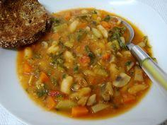 Sopa de Tomate e Feijão Branco