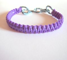 Items similar to Purple Craft Lace Bracelet - Purple Gimp and Blue Chain Arm Party Bracelet - Rexlace Bracelet on Etsy Gimp Bracelets, Paracord Bracelets, Lanyard Bracelet, Friendship Bracelet Patterns, Friendship Bracelets, Gimp Patterns, Plastic Lace Crafts, Purple Crafts, Custom Starbucks Cup