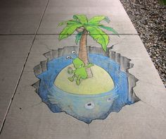 OMG this guy rules chalk art - want to attempt copying some of these for our back yard