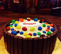 Vanila Peanut Butter Jelly Cream Cheese Cake with Kit Kat n M&M's ! By Sugarblast Marianahashim