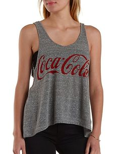 Coca-Cola Graphic Swing Tank Top: Charlotte Russe #cocacola #tee #graphics