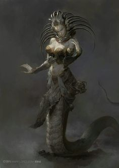 Reptilian woman