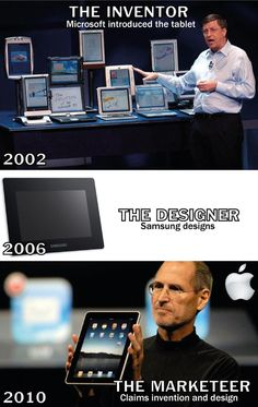 """We at Apple, Invent, Design and Build the best products in the world"" - ""...even if we have to copy the work of of others and claim it as our own!!"" So sayeth the Cult of Steve..."