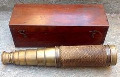 Eight drawer brass refracting telescope signed Guiseppe La Barbera Palermo - Palermo, Nautical, Drawers, Decorative Boxes, Brass, Good Things, Signs, Ebay