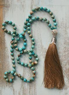 Perlen Quaste Halskette Boho-Sprunganlage von FlowersInMyHairShop