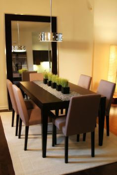 Contemporary Dining Room Centerpieces Design Pictures Remodel Decor And Ideas