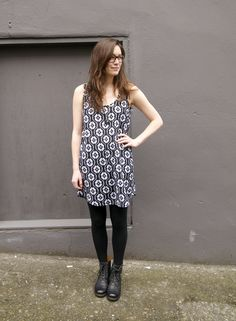 Make a tank dress in tiny pocket pattern with wider hem....make one in lightweight gauze, then in the purple linen?...Wiksten tank as dress by crab and bee