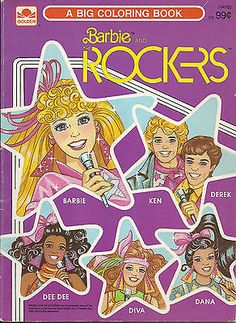 Barbie and the Rockers Coloring Book 1987