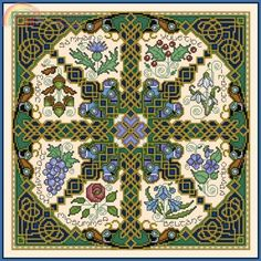 """Joan Elliott """"Celtic Wheel"""" cross stitch, from her book """"Bewitching"""""""