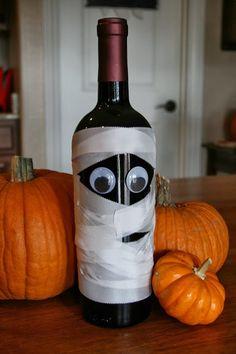 Will Work For Eskimo Kisses: Mummy Wine Bottle-Perfect Hostess Gift!