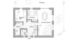 Erdgeschoss, mit Arbeitszimmer und Dusch-WC