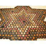 Antique Star Shaped Penny Rug Primitive 45  x 38