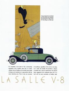 "Cadillac, 1931 on Flickr. https://www.flickr.com/photos/gatochy/2687878788/in/set-72157594350943277/ Scanned from Taschen's ""All-American Ads of the 30s""."