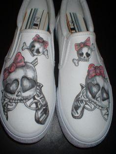 99ac8fdae304da Girly Skull Tattoo Inspired and Custom Designed by inkwear99