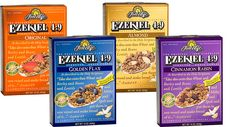 THM grocery list  Ezekial Cereal.  Raisins one are not on plan.  1/2 cup with Unsweetened Almond Milk for an E meal.