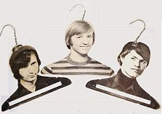 "Funny but cute, ""Famous people"" homemade hangers from basic wire hangers"