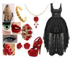 """Secret Princess (Azalea/Rose) Outfit Seven"" by yukihanayuuki ❤ liked on Polyvore featuring Charlotte Tilbury, Bling Jewelry, xO Design, LeiVanKash, BERRICLE, OPI, Ross-Simons and Red Circle"