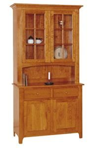 Amish Shaker 2-door Hutch - Keystone Collection