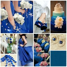 mykonos blue wedding inspiration, royal blue wedding ideas