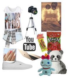 """""""YouTube!❤️"""" by moonlightpanda1 ❤ liked on Polyvore"""