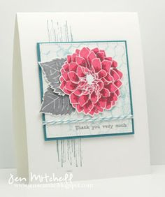 Delightful Dahlia Additions (Papertrey Ink); Distressed Background Blocks (My Favorite Things); Gorgeous Grunge, Much Appreciated (SU)