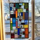 Trance Stained Glass Window Panel Abstract Geometric EBSQ Artist