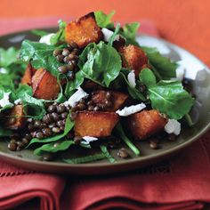 This fall salad balances earthy,         tangy, sweet, and creamy flavors.