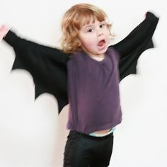 These bat wings are a fun and really easy to make addition to any dress up box. They only took me around ten minutes to whip up with some black lycra fabric I had laying about in my sewing room. Only one seam is required which you can do by hand if you don't have a sewing machine. Perfect for...