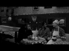 """Bill Murray, RZA and GZA from Wutang Clan talk it out in a cafe. Brilliant scene from JIM JARMUSChs little masterpiece """"Coffee and Cigarettes"""" from 2002."""